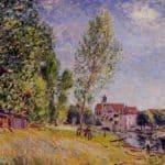 Matratat s Boatyard, Moret sur Loing – Alfred Sisley