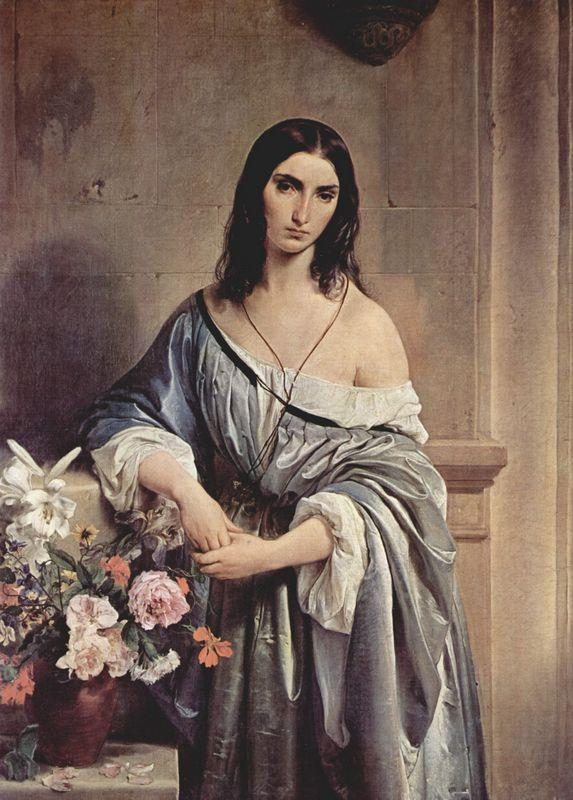 Melancholic Thoughts - Francesco Hayez