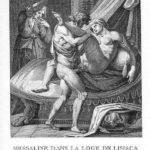 Messalina in Lisisica's booth – Agostino Carracci