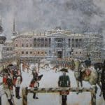 Military Parade of Emperor Paul in front of Mikhailovsky Castle – Alexandre Benois