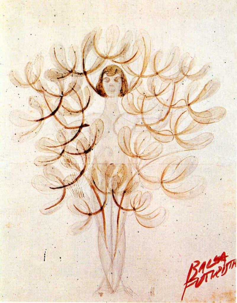 Mimicry Synoptic': The Tree-Woman or Woman-Flower - Giacomo Balla