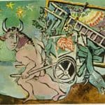 Minotaur transports a mare and foal – Pablo Picasso