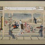 Moonlight Revelry at Dozo Sagami – Kitagawa Utamaro