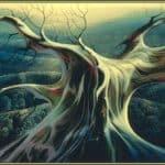 Moonlit Tree Trunk – Eyvind Earle