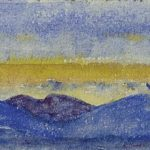 Mountain chain at sunset – Cuno Amiet