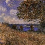 Near the Bank of the Seine at By – Alfred Sisley