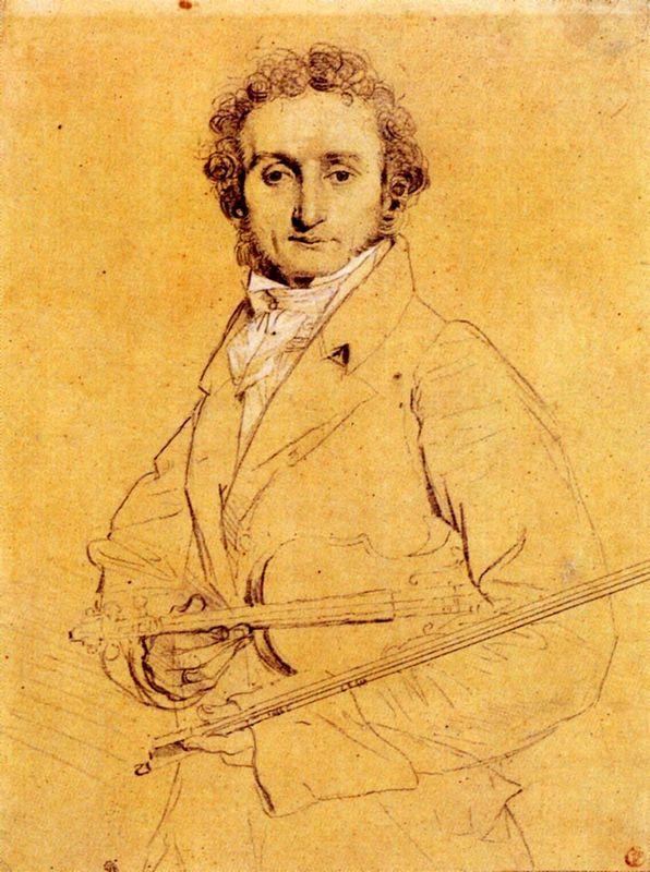 Niccolo Paganini - Jean Auguste Dominique Ingres