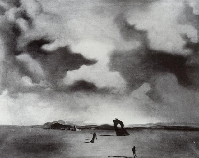 Night Spectre On The Beach - Salvador Dali