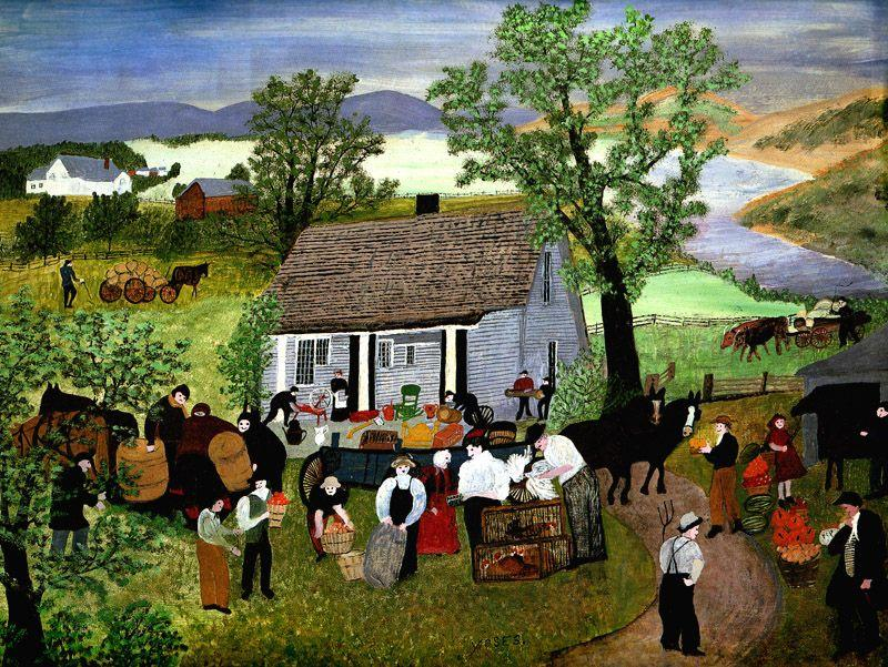 Morning Day On The Farm - Grandma Moses