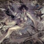 Nude of Young Lady on Couch – Giovanni Boldini