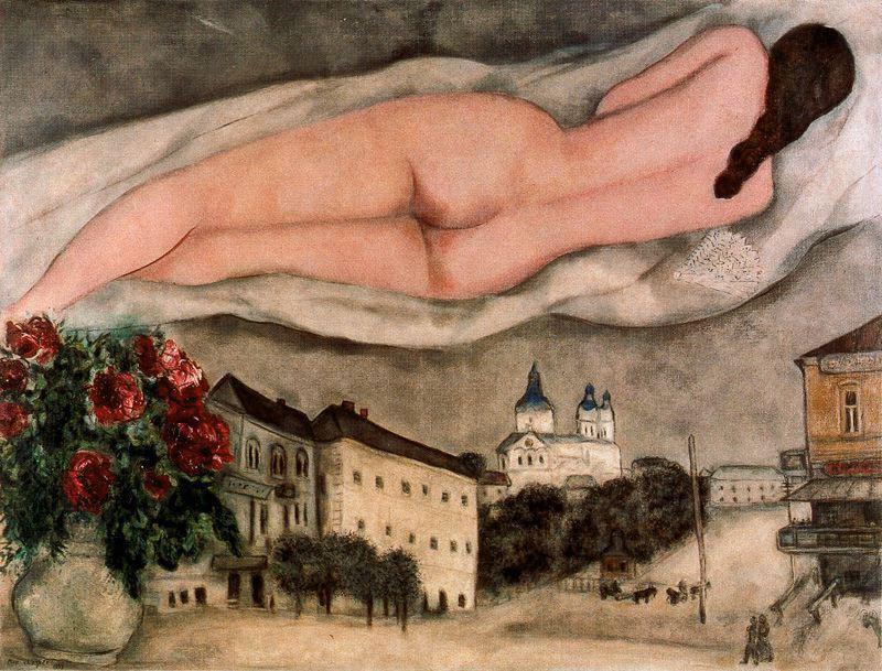 Nude Over Vitebsk - Marc Chagall
