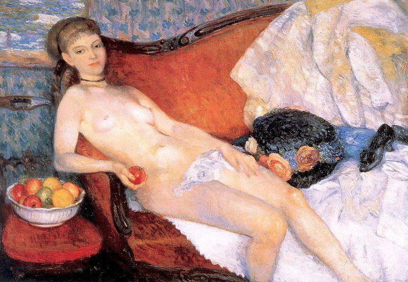 Nude With Apple – William James Glackens