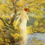 Numph Bathing – Childe Hassam