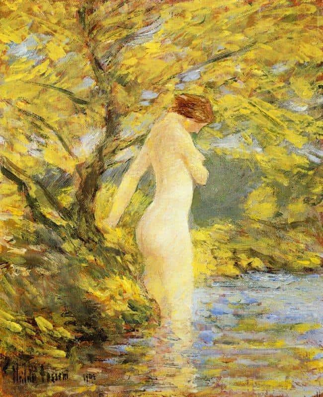 Numph Bathing - Childe Hassam