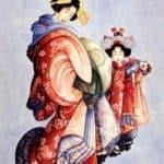 Oiran and Kamuro – Katsushika Hokusai