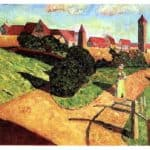 Old town II –  Wassily Kandinsky
