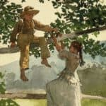 On the Fence – Winslow Homer