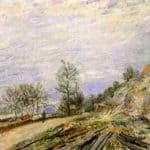 On the Road from Moret – Alfred Sisley