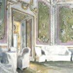Oranienbaum. The Monkey Cabinet  in Roller Coaster hall – Alexandre Benois