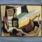 Partition, bottle of port, guitar, playing cards – Pablo Picasso