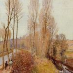 Path along the Loing Canal – Alfred Sisley