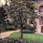 Petit Gennevilliers, Facade, Southeast of the Artist's Studio, Overlooking the Garden, Spring – Gustave Caillebotte