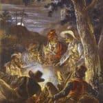 Polish Insurgents in the Forrest at Night – Alexander Orlowski
