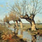 Pollard Willow At The Side Of The Broo – Cornelis Vreedenburgh