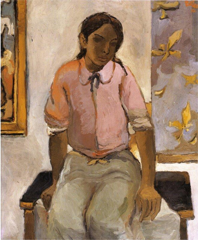 Portrait Of A Young Indian - Fernando Botero