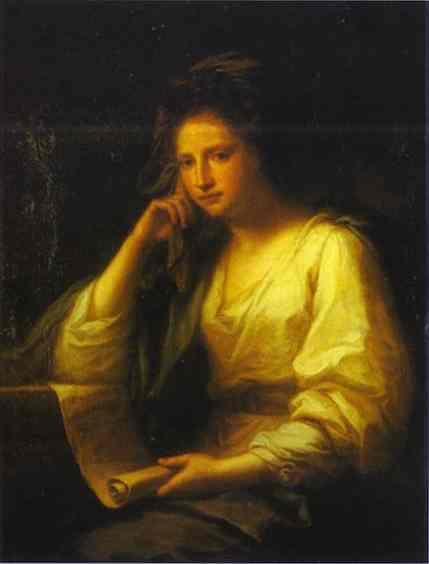 Portrait Of A Young Woman As A Sibyl - Angelica Kauffman