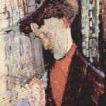 Portrait of Frank Haviland Burty – Amedeo Modigliani