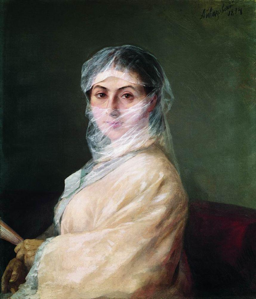 Portrait Of The Artist's Wife Anna Burnazyan - Ivan Aivazovsky