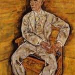 Portrait of Victor Ritter von Bauer – Egon Schiele