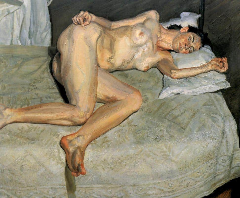 Portrait On a White Cover - Lucian Freud