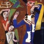 Poster Design for the Jubilee Procession of the Kaiser – Oskar Kokoschka