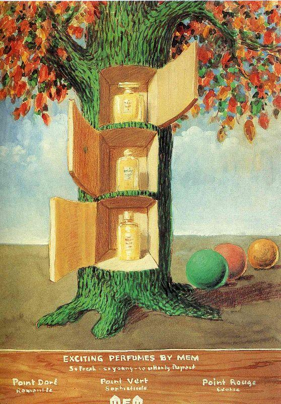 Poster - Exciting Perfumes by Mem - Rene Magritte