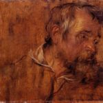 Profile Study Of A Bearded Old Man – Anthony van Dyck