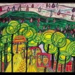 692 The Rain Falls Far From Us Falls the Rain – Friedensreich Hundertwasser