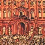 Rally in front of the Palace of Fine Arts – Mstislav Dobuzhinsky