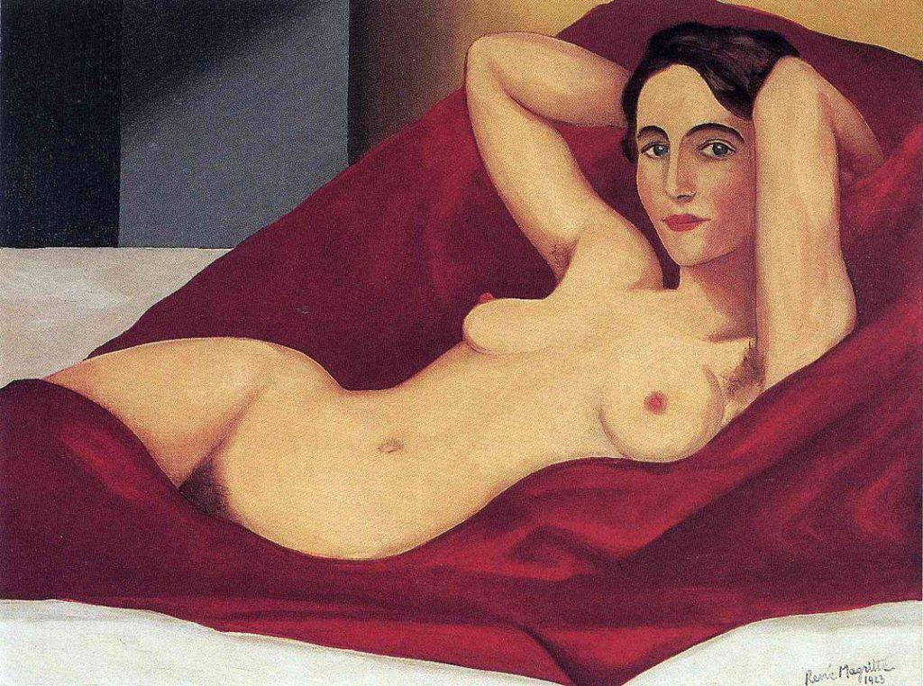 Reclining Nude - Rene Magritte