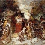 Rendezvous under the Flowered Bower – Adolphe Joseph Thomas Monticelli