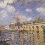 River steamboat and bridge – Alfred Sisley