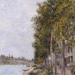Road Along the Seine at Saint Mammes – Alfred Sisley