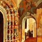 Rostov Veliky. Interior of church. – Nicholas Roerich