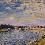 Saint Mammes Evening – Alfred Sisley