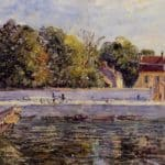 Saint Mammes House on the Canal du Loing – Alfred Sisley