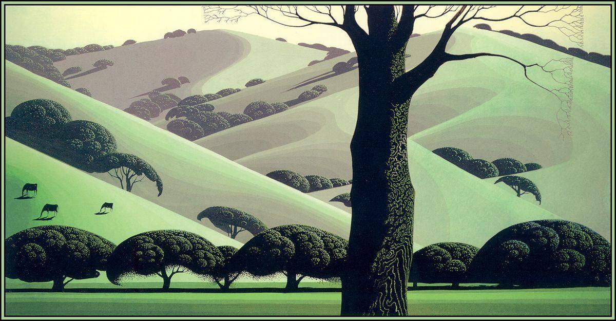 Santa Ynez Pastures - Eyvind Earle