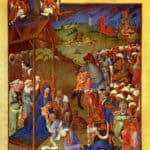 Scene Adoration of the Magi – Limbourg brothers