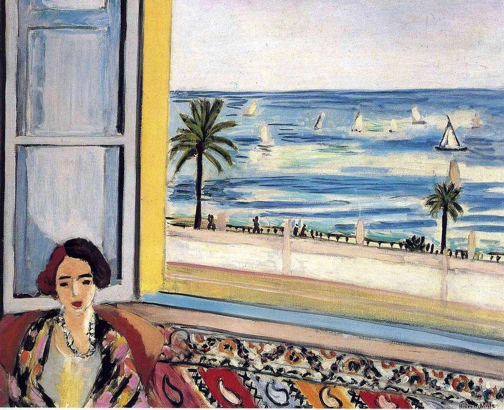 Seated Woman, Back Turned To The Open Window - Henri Matisse