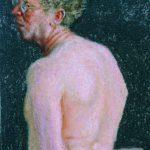 Self Portrait in Profile from the Back – Avigdor Arikha